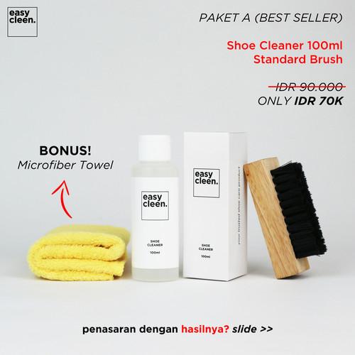 Foto Produk Shoe Cleaner 100ml + Standard Brush | Pembersih Sepatu Sabun Cuci dari Easy Cleen Official
