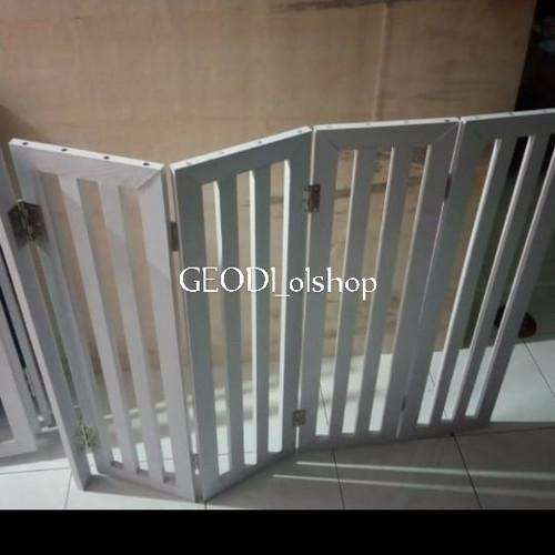 Foto Produk pembatas ruangan folding warna putih lipat 4 untuk sekat ruangan dari GEODI_olshop