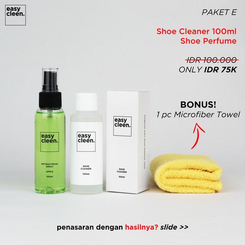 Foto Produk Shoe Cleaner 100ml + Antibacterial Spray   Pembersih Sepatu Parfum - bubble gum dari Easy Cleen Official