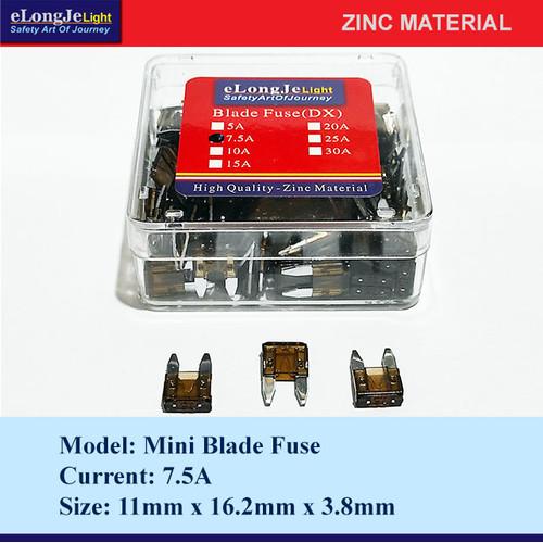 Foto Produk Fuse Blade (DX) Mini 7.5A (Coklat) - Elongje dari Seraya Shop