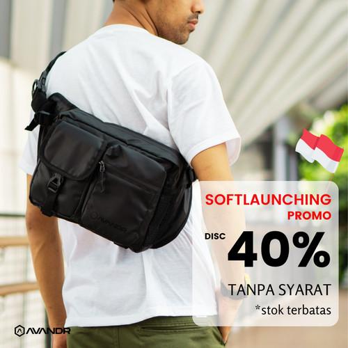 Foto Produk AVANDR SDX Shoulderbag Tas Punggung Multifungsi Banyak Kantong - Hitam dari Avandr Official
