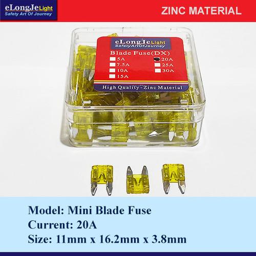 Foto Produk Fuse Blade (DX) Mini 20A (Kuning) - Elongje dari Seraya Shop