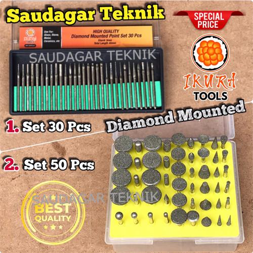 Foto Produk Mata Bor Tuner Ukir Mata Bor Diamond Mini Grinder Bor intan - Ikura Set 30pcs dari Saudagar Teknik