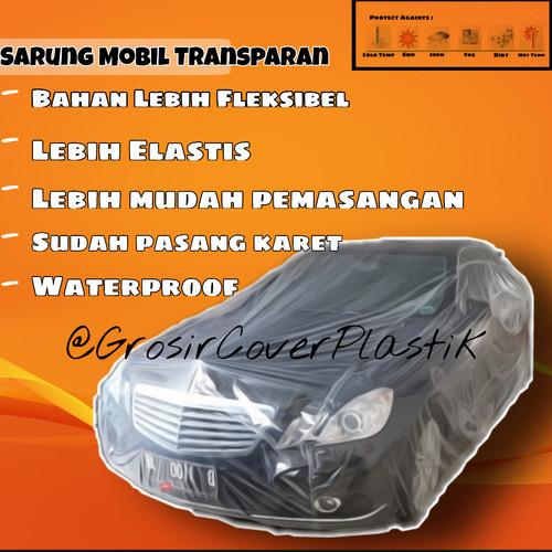 Foto Produk Sarung Mobil Plastik / Cover mobil transparant / LDPE auto cover - S, Bening dari Grosir_CoverPlastik