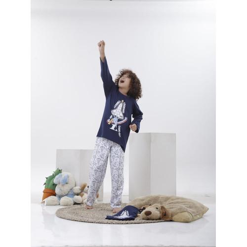 Foto Produk Piyama Anak Long Shirts Perrin Rocket LSLP124 - 10 dari Boboo Kids