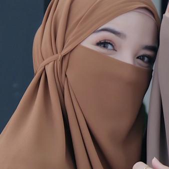 Foto Produk Hijab Jilbab Kerudung Instan French Khimar Cadar Terbaru Bergo Humaira - Mocca dari My Hijup