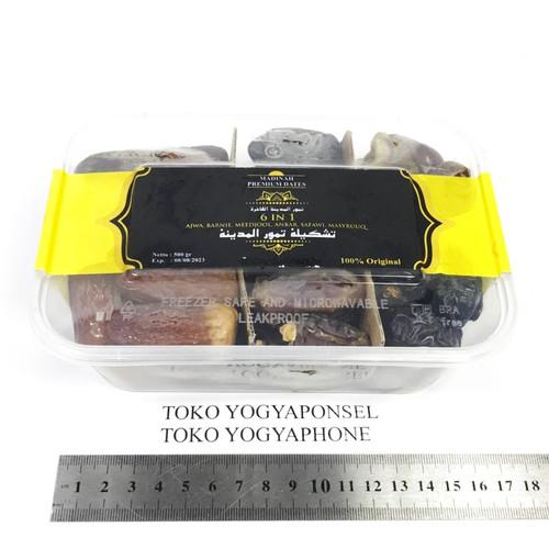 Foto Produk Kurma Ajwa Madinah Barnie Meedjol Anbar Safawi Masyruq 6in1 500 gram dari yogyaponsel