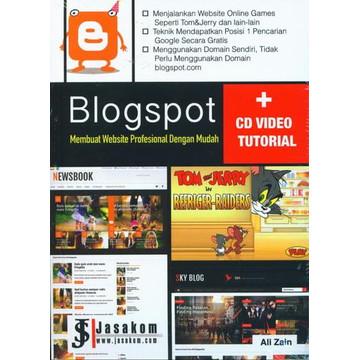 Foto Produk Buku Blogspot Membuat Website Profesional Dengan Mudah (CD Video Tutor dari BukuKita