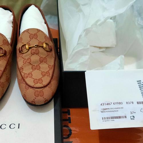 Foto Produk Sepatu Gucci Gg malaga kid size 37+ original/ori/ authentic/asli 100% dari Coolhands