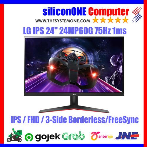 "Foto Produk LG 24MP60G - IPS 24"" FHD Freesync 75Hz 1ms 24MP60 DAS Gaming dari silicon ONE Computer"