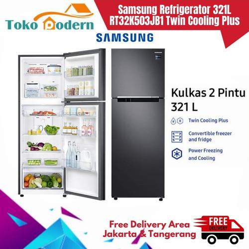Foto Produk SAMSUNG Kulkas 2 Pintu RT32K503JB1/SE 321L All-Around Cooling dari TokoModern