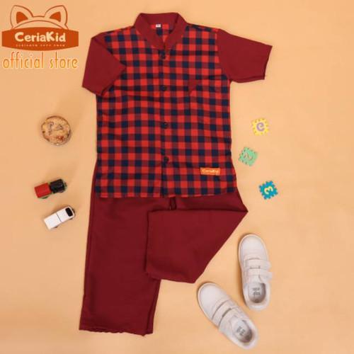 Foto Produk Baju Koko Anak Setelan - XS 1-2 Tahun, Merah dari ck bajuanak