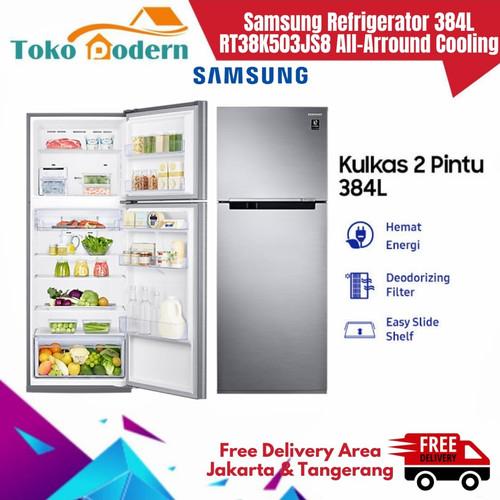 Foto Produk SAMSUNG Kulkas 2 Pintu RT38K503JS8/SE 384L All-Around Cooling dari TokoModern