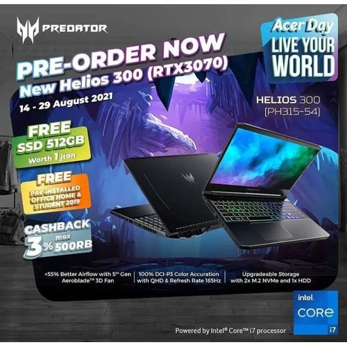 Foto Produk [PRE-ORDER] Acer Predator Helios 300 11th Gen (PH315-54) RTX 3070 dari Masterpiece Computer SMD