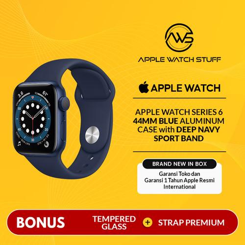 Foto Produk Apple Watch Series 6 44mm Blue Aluminium with Deep Navy Sport Band - Sport Band dari applewatchstuff