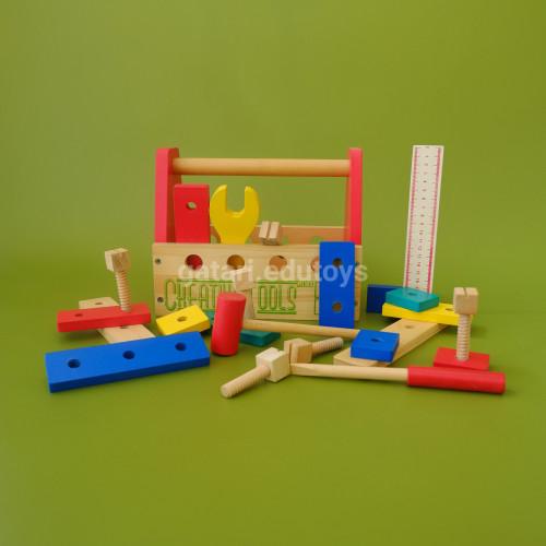 Foto Produk Wooden Creative Tools (FREE packing kardus dan bubble wrap) dari Gatari Edutoys