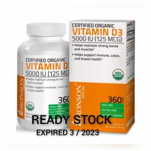 Foto Produk BRONSON Vitamin D3 + K2 (MK7) 5000IU 120caps, 250 caps, 360caps - D3 5000 iu 360 dari Koreanholicshop