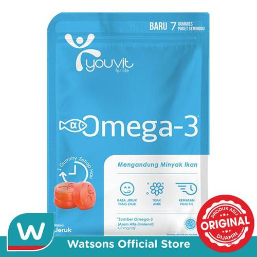 Foto Produk Youvit Omega 3 Dewasa 7'S dari Watsons Indonesia