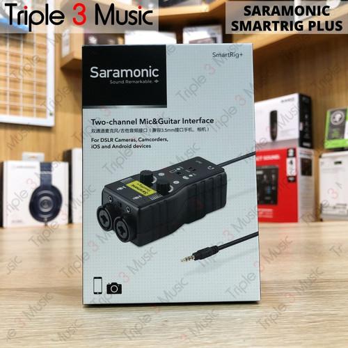 Foto Produk Saramonic SmartRig + Plus 2ch Soundcard mixer xlr to 3.5mm smartphone dari triple3music