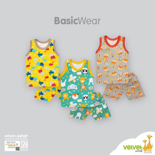 Foto Produk Velvet junior setelan oblong kutung celana pendek baju anak bayi motif - Size S, Starry Night dari Luckiest Se7en Shop