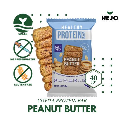 Foto Produk Covita - Healthy Protein Bar 40 gr Gluten Free - Peanut Butter dari Hejo Fresh