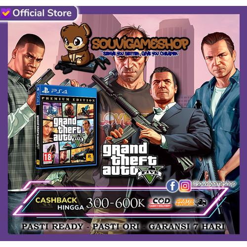 Foto Produk PALING MURAH !! PS4 Grand Theft Auto V / PS4 GTA V (Reg All / English) dari souvigameshop