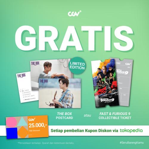 Foto Produk 2 Disc Coupon CGV + Collectible Item (Postcard / Special Ticket) - Postcard TheBox dari CGV CINEMAS