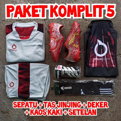 Foto Produk paket komplit sepatu sepak bola soccer bonus setelan - Catalys Merah, 39 dari sepatuonlineid