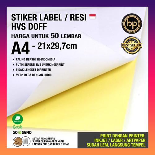 Foto Produk [A4 - PAKET 50 LEMBAR] STICKER STIKER POLOS HVS DOFF / GLOSSY / KRAFT - Doff BP Premium dari Blackpaper.id
