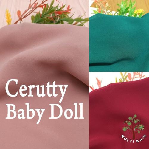 Foto Produk Bahan Multi Kain Ceruti Cerutty Cerutti Seruti Baby Doll per 0.5Meter - 41 hitam dari multi kain