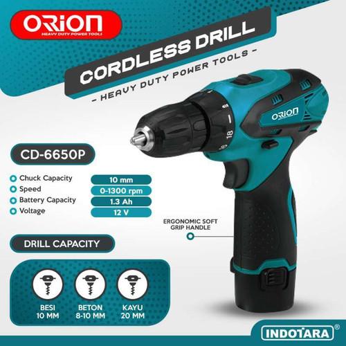 Foto Produk Mesin Bor Baterai Cordless Drill Bor Tangan Baterai 12V Orion CD-6650P dari PT. Indotara Persada