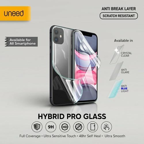 Foto Produk Uneed Hybrid Pro Anti Break Screen Protector Handphone Full Cover - Clear, Front 1pcs dari Uneed Indonesia