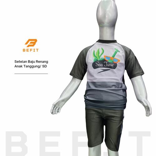 Foto Produk Setelan Baju Renang Anak Remaja Speedo Unisex - Hitam, M dari BeFit Sport