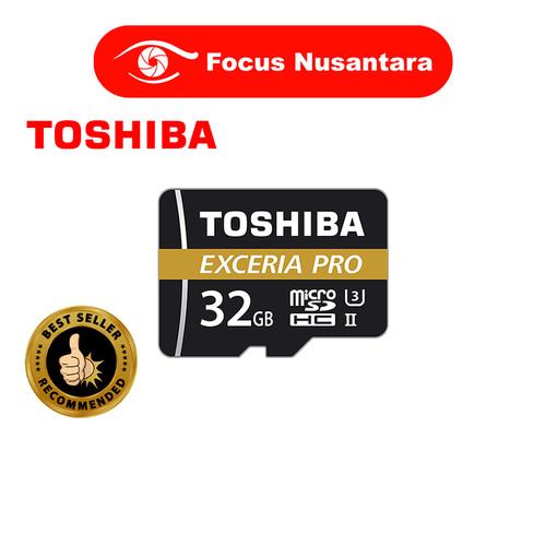 Foto Produk TOSHIBA MicroSDXC UHS-II Class10 8K 32GB 270MB/s Exceria Pro M501 dari Focus Nusantara