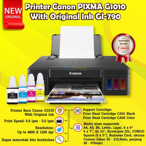 Foto Produk Printer Canon Pixma G1010 Ink Tank System G-1010 Print Head CA91 CA92 - Original Ink dari FixPrint Indonesia