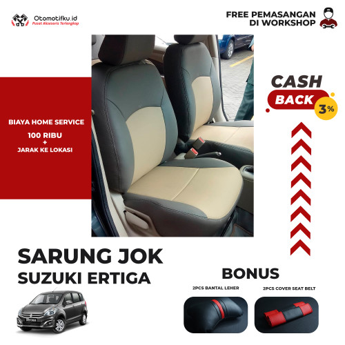 Foto Produk SARUNG JOK MOBIL SUZUKI ERTIGA 14/15 BAHAN MYO LEATHER ORIGINAL - BARIS 1 dari Otomotifku Official