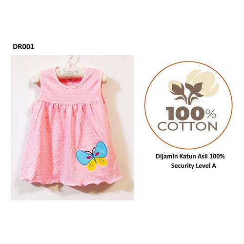 Foto Produk Baju/Dress bayi Perempuan 0-6 Bulan Katun 100% Import Motif A - DR001 dari Istiyati collection
