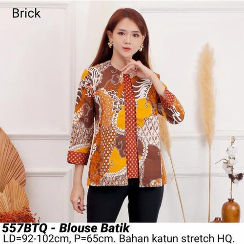 Foto Produk BLOUSE BATIK 557 ATASAN KERJA KANTOR MODERN BAJU WANITA CANTIK MURAH - 557BTQ Brick dari Ace Sakura Fashion