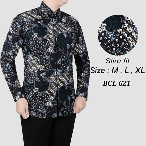 Foto Produk Batik , kemeja slimfit pria,baju batik cowo lengan panjang D 822 - M dari Cemerlang Batik