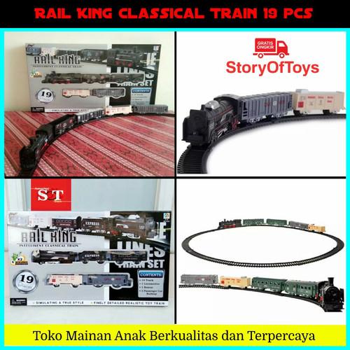 Foto Produk Mainan Rail King Intelligent Classical Train Kereta Api 19 Pieces dari StoryOfToys