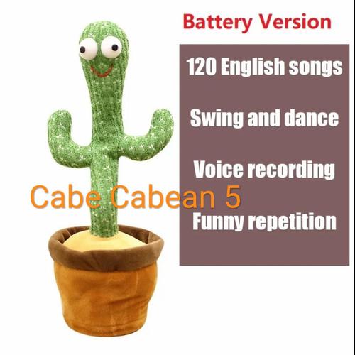 Foto Produk Mainan Kaktus Goyang Menari Bicara Dancing Cactus Joget Tiktok Boneka - POLOS A dari CABE CABEAN5
