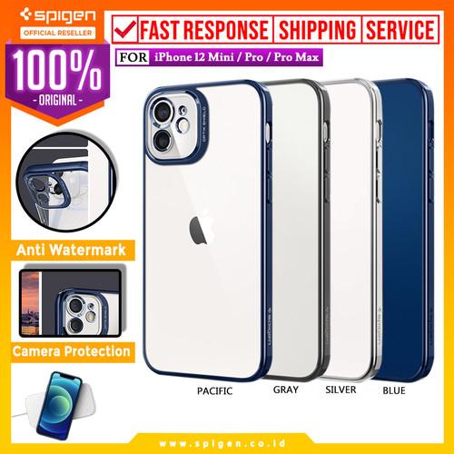 Foto Produk Case iPhone 12 Pro Max 12 Mini Spigen Optik Crystal Soft Clear Casing - 12 Mini, Chrome Gray dari Spigen Official