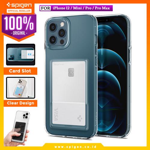 Foto Produk Case iPhone 12 Pro Max 12 Mini Spigen Crystal Card Slot Clear Casing - 12 Mini dari Spigen Official