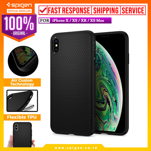 Foto Produk iPhone XS Max / XS / X / XR Case Spigen Pattern Softcase Liquid Air - XS dari Spigen Official
