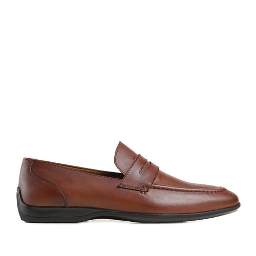 Foto Produk Prabu - Ananda Brushed Brown Sepatu Slip On Kulit Pria - 42 dari Prabu Indonesia