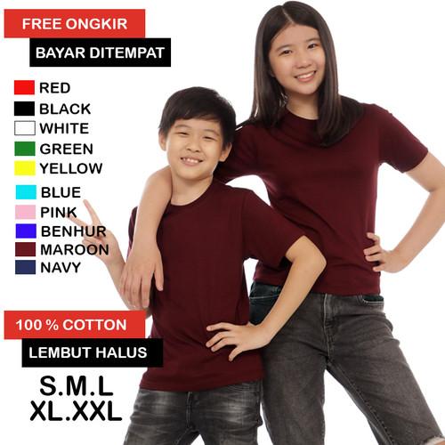Foto Produk Kaos Polos Anak Umur 1 - 12 Tahun Cotton Combed 30s Lembut Halus - S dari Carrado Official