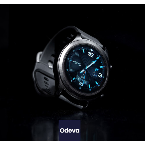 Foto Produk Smartwatch Odeva Watch G2 [ORIGINAL] Tensi Digital, Thermometer & Spo2 - Hitam dari Gagoo Official Store