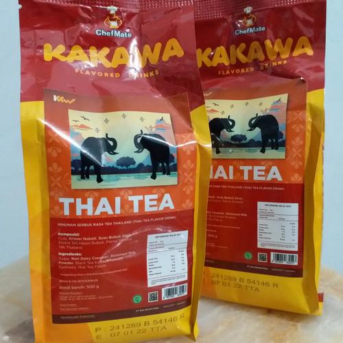 Foto Produk Kakawa Thaitea drink 500gr Chefmate minuman serbuk kekinian yg segar dari agungjayaonline