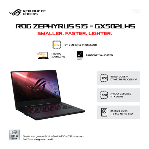 Foto Produk Asus ROG Zephyrus S15 GX502LWS I77SD8T Core i7/32GB/1TB SSD/RTX2070S dari SOFTCOM