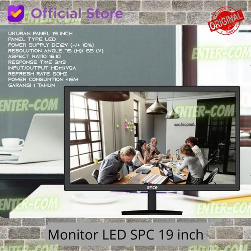 Foto Produk MONITOR PC KOMPUTER SPC 19 INCH HD GARANSI RESMI dari enter-com